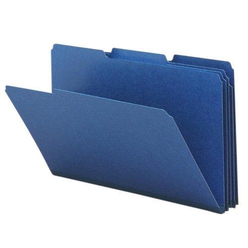 Smead Pressboard File Folder, 1/3-Cut Tab, 1 Expansion, Legal Size, Dark Blue, 25 per Box (22541) by Smead