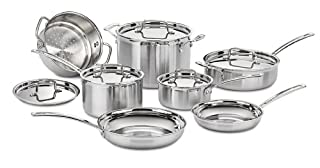 Cuisinart MCP-12N Multiclad Pro Stainless Steel 12-Piece Cookware Set (B009JXPS6U) | Amazon Products