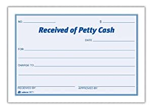 Adams Petty Cash - recepción Pad, continuo, 5 x 3,5