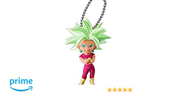 Anime Dragon Ball Xeno Kefla Figure Keychain Gashapon Capsule UDM BURST 30