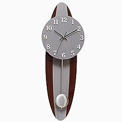 MCC Retro Creative wall clock modern large pendulum clock Oval Mute clock , a
