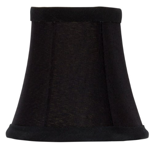 Upgradelights 4 Inch Clip On Chandelier Shade in Black Silk with Gold Lining (2.5x4x3.75) ()