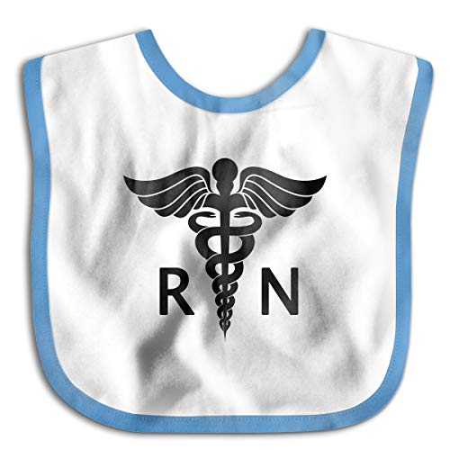 Registered Nurse Logo Funny Baby Bibs Burp Infant Cloths Drool Toddler Teething Soft Absorbent
