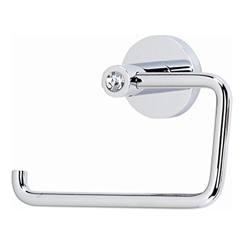 porary I Crystal Modern Tissue Holder, Polished Chrome (Alno Swarovski Crystal)