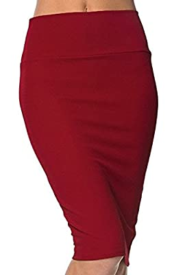 Urban CoCo Women's High Waist Stretch Bodycon Pencil Skirt