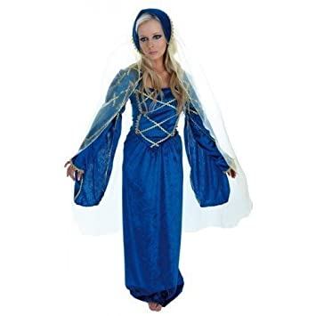Ladies Tudor Medieval Lady Full Long Length Fancy Dress Costume