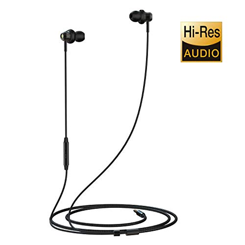 Headphones with Microphone, in Ear Headphones MR02 Wired Earphones Noise Isolating HiFi Stereo Bass Earbuds Headphones Sport Headphones for iPhone, iPad, iPod, Smartphone and Mp3 Player Gold