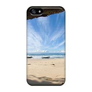 New Style For Iphone 5/5S Phone Case Cover Protective For Iphone 5/5S Phone Case Cover - Beach View From Cave