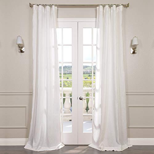 Half Price Drapes SHLNCH-GB1001032-96 Signature French Linen Sheer Curtain, Antique - French Linens Antique