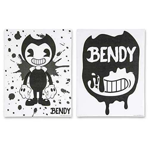 Bendy and the Ink Machine Posters – Official Bendy 2 Pack Poster Set – Black and White Bendy Posters (White Splatter)
