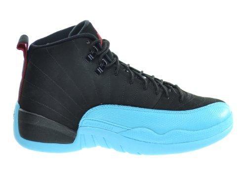 Amazon.com | Air Jordan 12 Retro \u0026quot;Gamma Blue\u0026quot; Men\u0026#39;s Basketball Shoes Black/Gym Red-Gamma Blue 130690-027 | Basketball