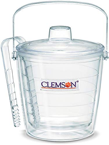 - Tervis 1053348 Clemson Tigers Logo Ice Bucket with Emblem and Clear Lid 87oz Ice Bucket, Clear