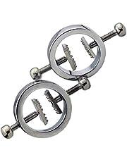 EXCEART Borst Tepelklemmen Verstelbare Tepelclips Niet- Piercing Tepelringen Borststimulatie Speelgoed Sm Flirten Speelgoed Voor Vrouwelijke Vrouwen Volwassen Rollenspel