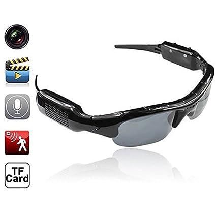 axusndas Gafas para cámara Oculta, Lentes de cámara espía Oculta, Alta definición (HD