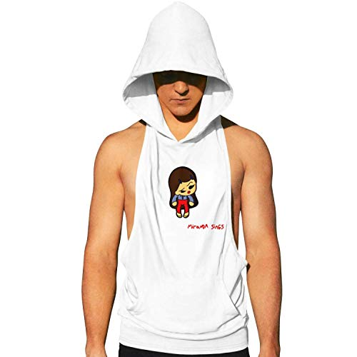 Workout Hooded Tank Tops Haters Back Off Miranda Sings Men Sleeveless Muscle Sleeveless Hooded Shirt with Pocket Cool and Muscle Cut -