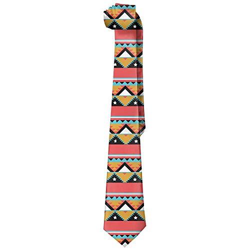 (Men's Geometric Totem Polyester Silk Necktie Fashion Tie)