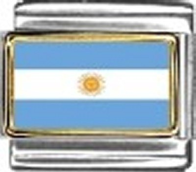 - Argentina Photo Flag Italian Charm Bracelet Jewelry Link