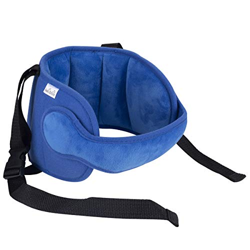 Luchild Head Support Travel Car Seat Stroller Child Head Protection Neck Relief for Toddler Baby Kids (Blue) ()