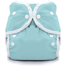 Thirsties Duo Wrap Cloth Diaper Cover, Snap Closure, Aqua Size One (6-18 lbs)