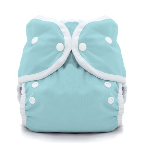 Thirsties Duo Wrap Cloth Diaper Cover, Snap Closure, Aqua Size One (6-18 lbs)