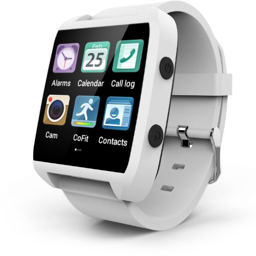 Smart Watch, Ematic All in One Easy to Wear [ Wearable ] White Smartwatch with Carrier Case [ ESW454W ]
