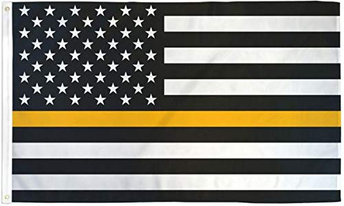 Best Flags Thin Gold Line USA 3x5ft Poly Flag, Multicolor