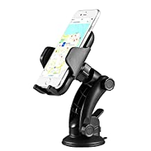 Car Phone Mount ZOETOUCH Car Mount Holder With One Touch Design Windshield Dashboard Strong Sticky Gel Pad For iPhone, Samsung Galaxy,Google Nexus/LG/Sony/Nokia/Huawei