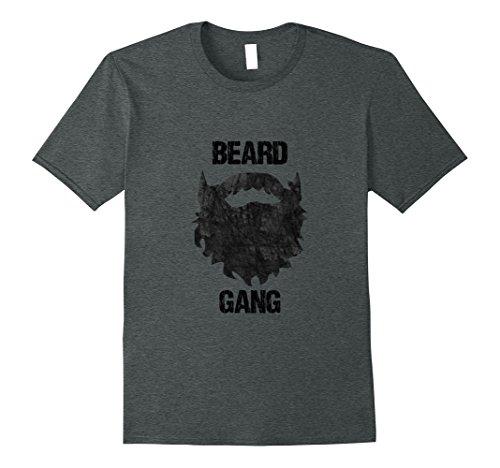 Hair Patch Facial (Mens Beard Gang Mens Facial Hair T shirt XL Dark)