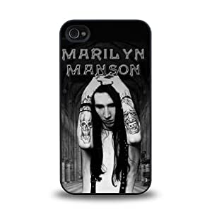 iPhone 5c case protective skin cover with American musician Marilyn Manson cool design #6