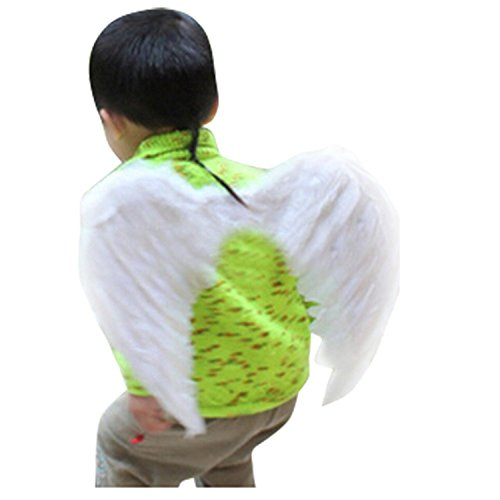 [Foremost Feather Angel Wings Christmas Halloween Costume (White)] (Angel Wings For Halloween Costumes)