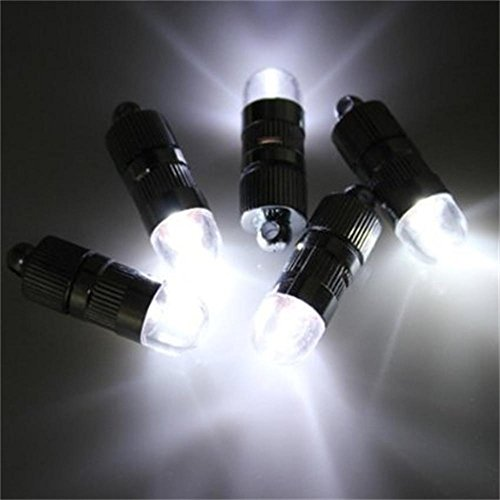 Dazone Mini LED-Ballons Lichter Wasserdicht Beleuchtung für Papierlaterne Papier Lampions Weiß 10 LED Batteriebetrieben