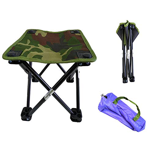 Outdoor Mini Ultra Light Portable Folding Stool Camping Beach Hiking Garden Fishing Travel Lazy Barbecue 600D Oxford Cloth Waterproof Fast Folding Chair Portable (2, s) ()