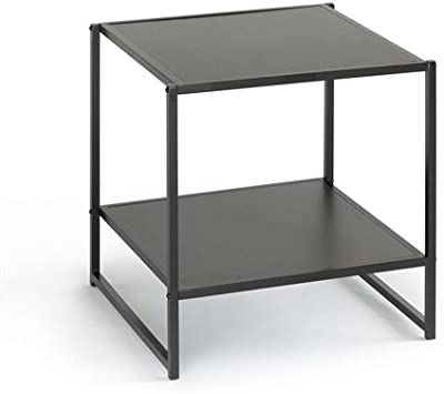 Modern Steel Frame End Table Nightstand in Espresso Dresser Set BedroomChest MyEasyShopping