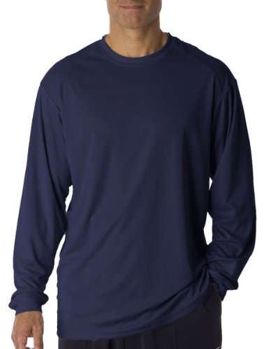 Badger Sportswear Men's B-Dry Long Sleeve Tee, Navy, - China Shipping Online Stores Free