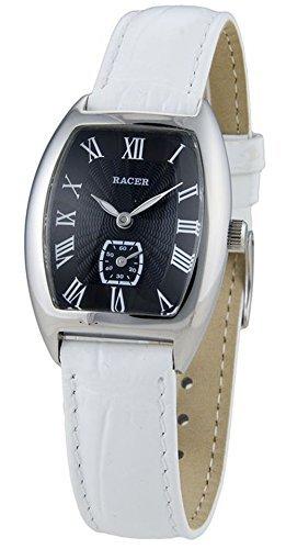 L40705-6 Reloj Racer Mujer, caja de acero, correa de cuero