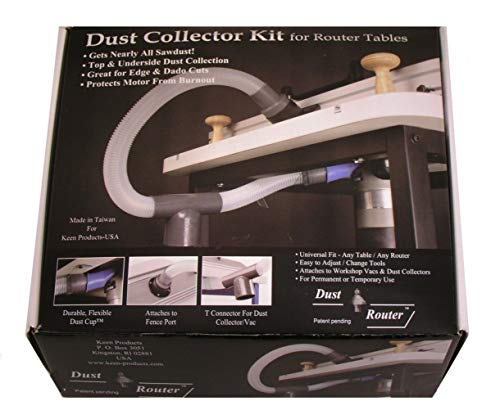 TimmyHouse Router Table Dust Collection/Collector System for Fence & Insert Plate by bits