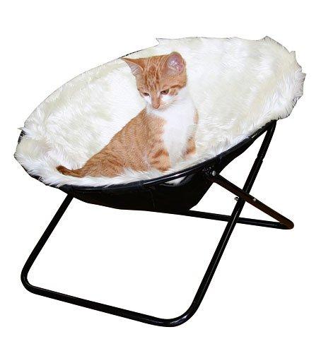 """Kerbl Liegemulde """"Sharon"""", Liegeschale für Katzen, 50 cm Durchmesser in Weiss oder braun"""