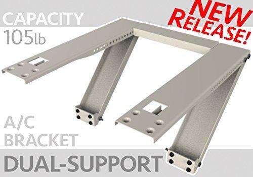 Universal Window AC Support - Air Conditioner Bracket - Support Air Conditioner Up to 105 lbs. - For 5000 BTU AC to 12000 BTU AC Units