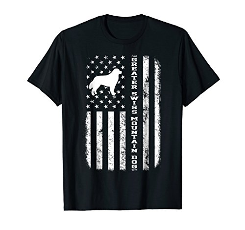 Greater Swiss Mountain Dog Flag Gift T-Shirt For Dog ()