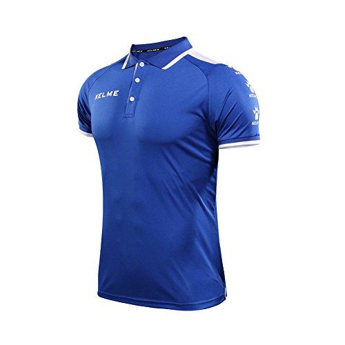 Kelme Polo de manga corta Athletic para hombre,  Azul, X-Large