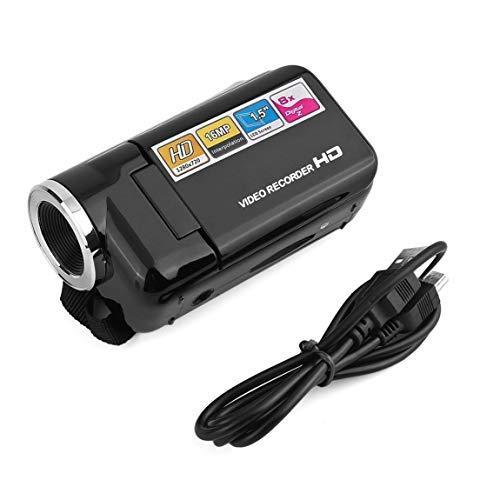SeniorMar DV180 Cámara Negro 16MP Mini cámara de Video con 1.5'TFT Pantalla 8X Digital Zoom Alta Velocidad USB2.0 Grabadora...
