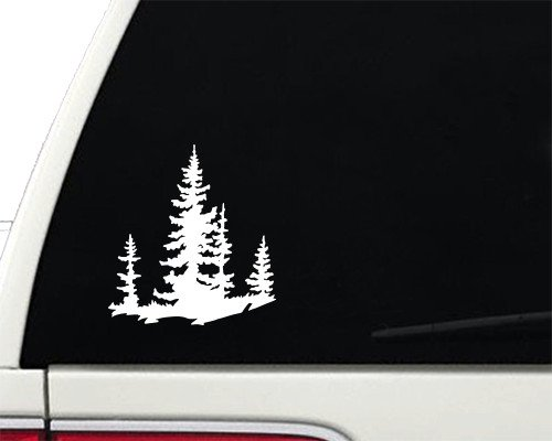 Spruce Trees Adventure Explore Nature - Vinyl Decal - Car Truck Laptop - SELECT SIZE
