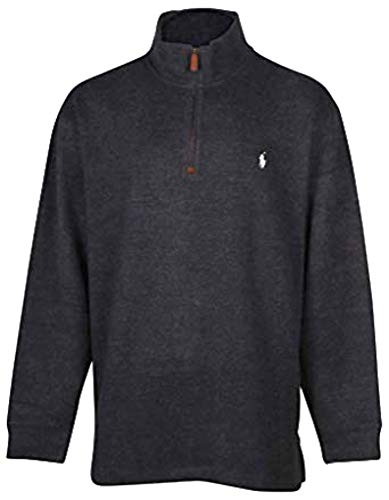 (Polo Ralph Lauren Mens Big & Tall Fleece 1/2 Zip Mock Sweater (Hunter Navy, 2LT))