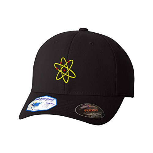 Atomic Energy Flexfit Pro-Formance Embroidered Cap Hat Black (Atomic Cap)