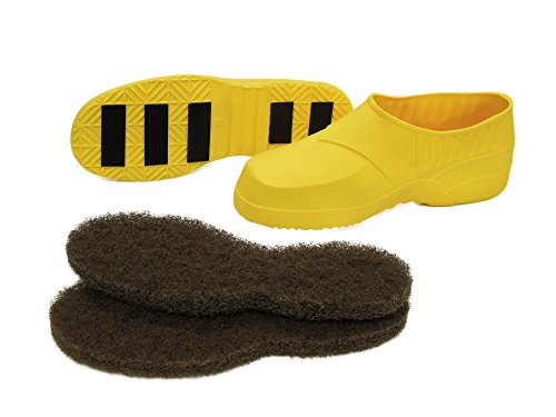 Glit/Microtron 408003 Stripping Boots with Protective Shoe Cover, Large, Yellow (Pack of 2) by Glit / Microtron (Image #1)