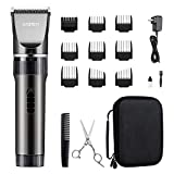 WONER Hair Trimmers, Quiet Cordless Rechargeable Hair Clippers, 16-piece Home Hair Cutting Kit, Hair Removal Machine for Women Men Husband Baby