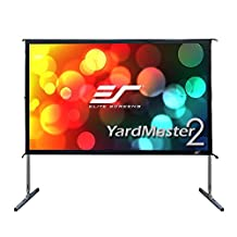 Elite Screens OMS120HR2 Yard Master 2 Series Portable Outdoor/Indoor Movie Theater Projection Screen, Light-Weight Frame, 120-Inch Diag. 16:9