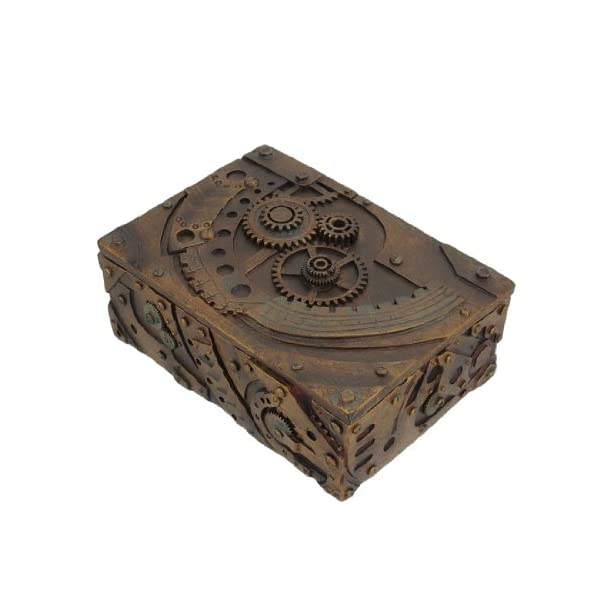 PTC 5 Inch Steampunk Mechanical Inspired Jewelry/Trinket Box Figurine 5