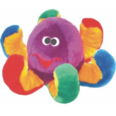 Patchwork Pet Octopus 8-Inch Multicolor Squeak Toy for Dogs, My Pet Supplies