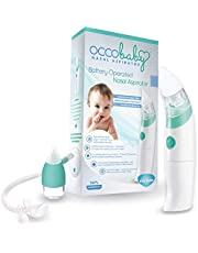 OCCObaby Baby Nasal Aspirator - Safe Hygienic and Quick Battery Operated Nose Cleaner with 3 Sizes of Nose Tips Includes Bonus Manual Nose Sucker for Newborns and Toddlers (Limited Edition)